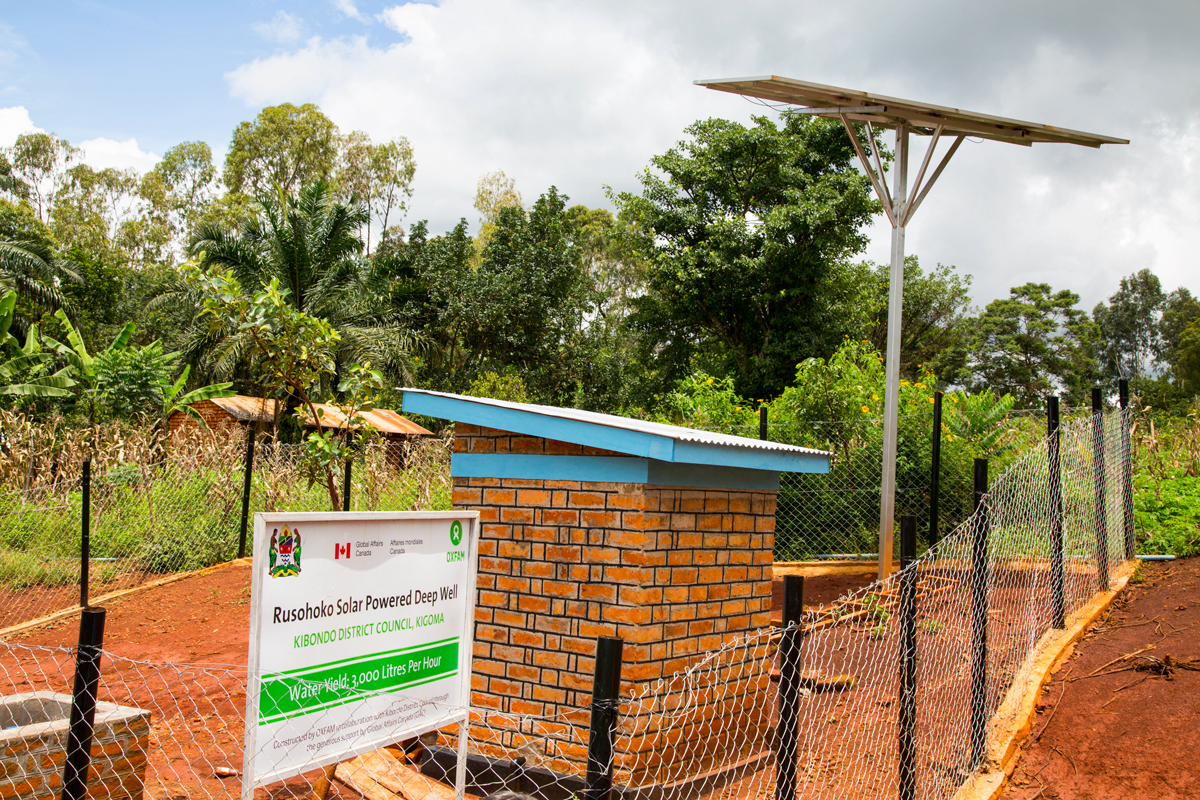 The Rusohoko solar powered deep well yields 3,000 litres of water per hour.