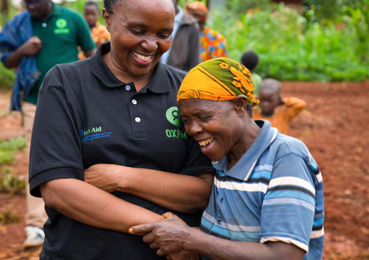 """It is great to see a smile on many faces because of Oxfam's humanitarian work."" Said Betty Malaki, Oxfam in Tanzania Head of Programmes during a visit to Nduta camp."