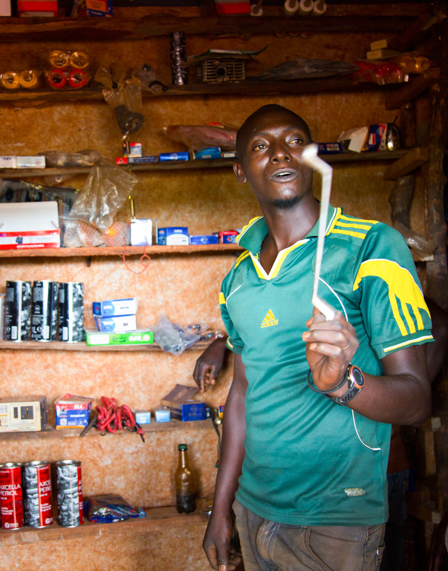 John Marie Nzisabila has been trained on business skills to generate more income.