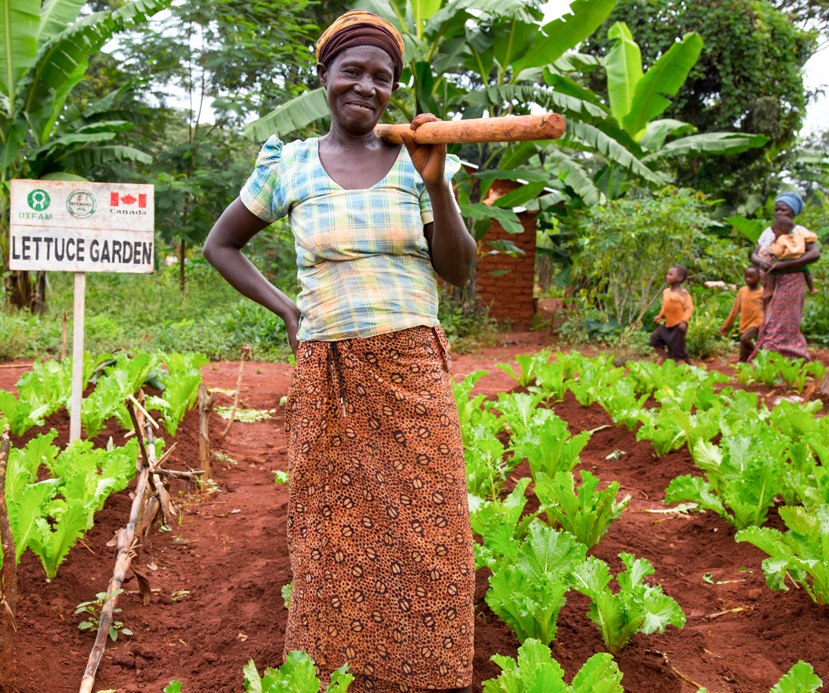 "Ndimugwanko Fides proudly told the CMT that since she was given the seeds and training by Oxfam's partner KIYADO she has harvested vegetables twice and fed her family of six with nutritious food. ""We now have plenty of vegetable options to choose from."""