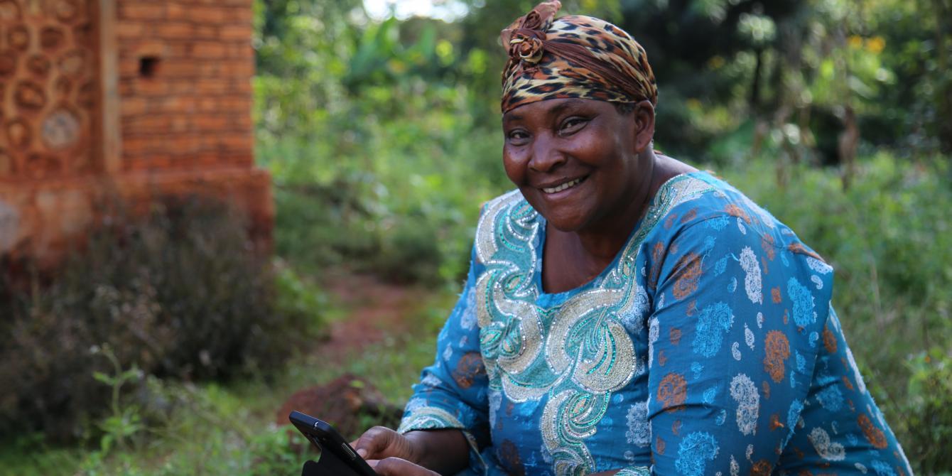 Josephina Ntimba (59) one of the animators in the village of Kitahana in Kibondo district northwest Tanzania (Photo credit: Kisuma Mapunda/Oxfam).