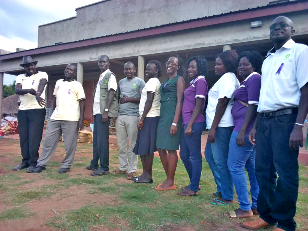 Oxfam staff that attended the reflection in Lamwo