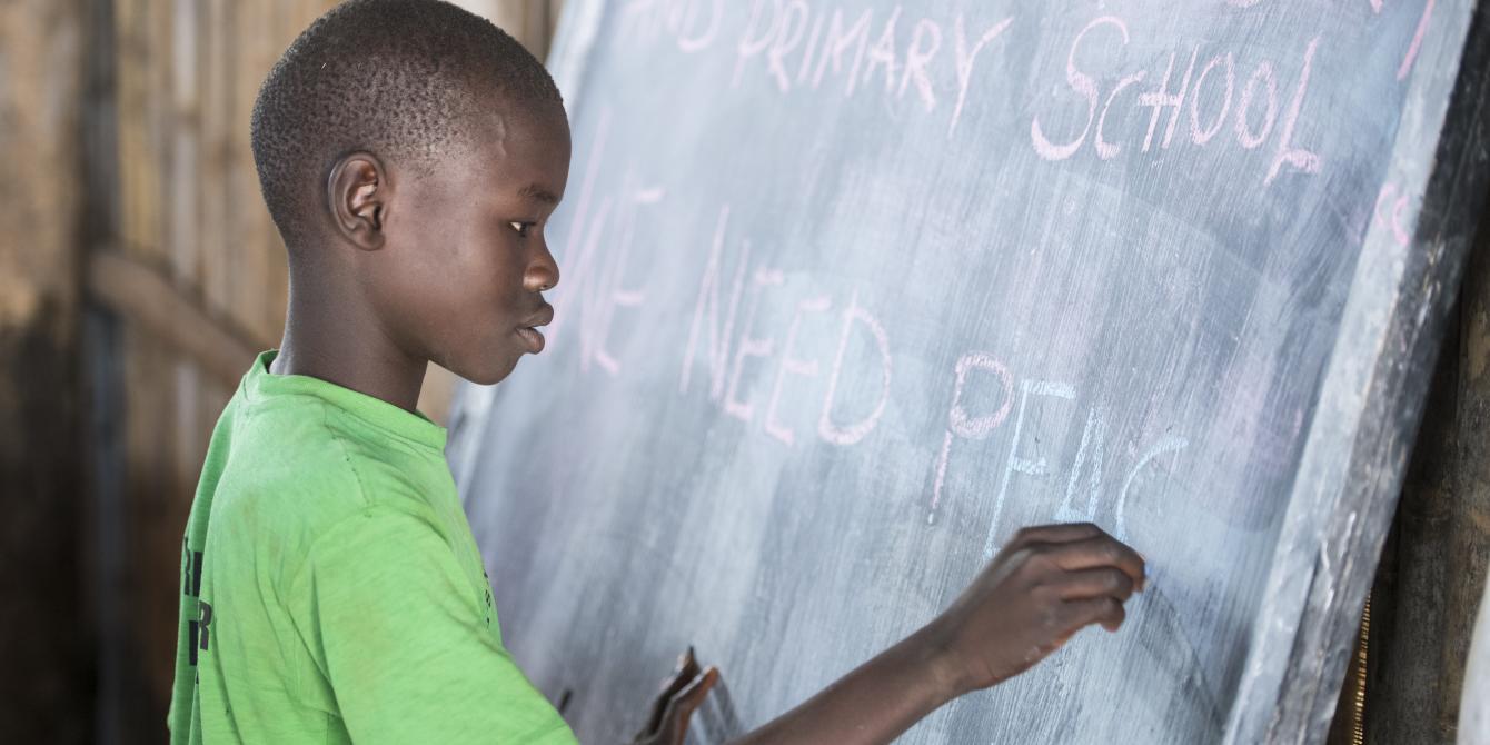 Nelson Mandela (12), student at World View Primary School, Palabek Settlement, Uganda. Photo credit: Emmanuel Museruka/Oxfam