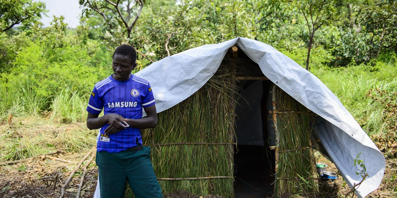 16 year old Onen Isaac a south sudanese refugee fled alone into Uganda. Photo credit: Julius Kasujja