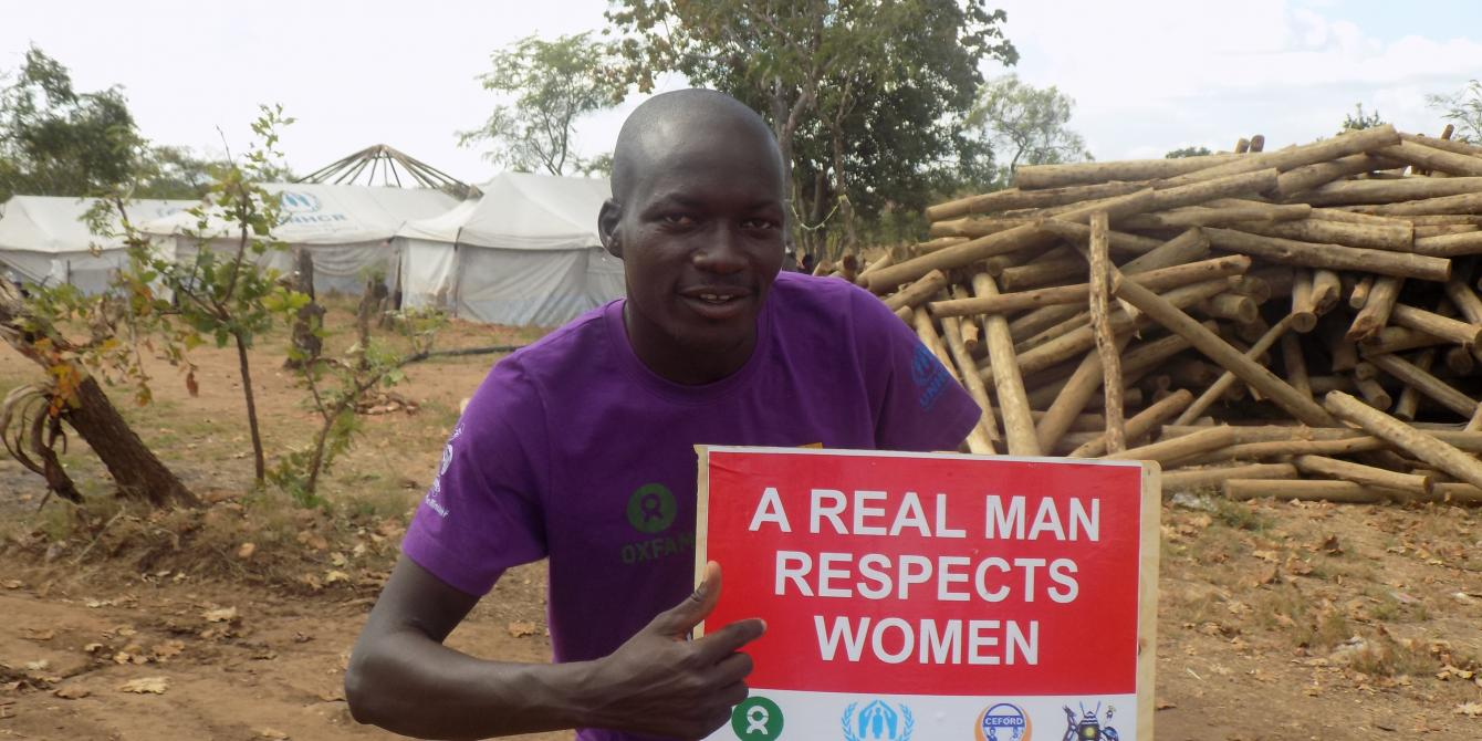 William Mazzu is a domestic violence survivor that now works to end it in Omugo settlement. Photo credit: Oxfam