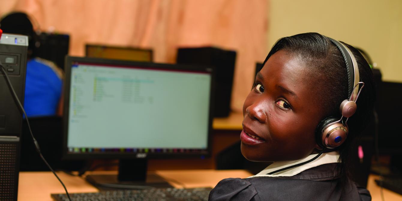 Janeth Atizuyo - student at AruaBits in Arua District. Photo credit:Julius Kasujja/Oxfam