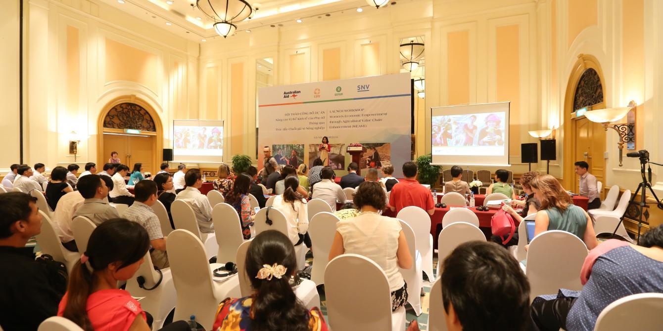 WEAVE launch workshop in Hanoi. Credit: Oxfam in Vietnam