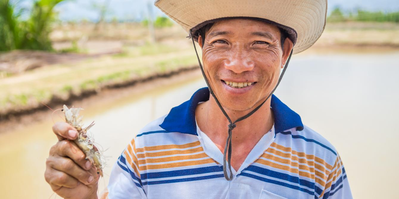 Farmer Bap in Ca Mau. Credit: Oxfam Vietnam