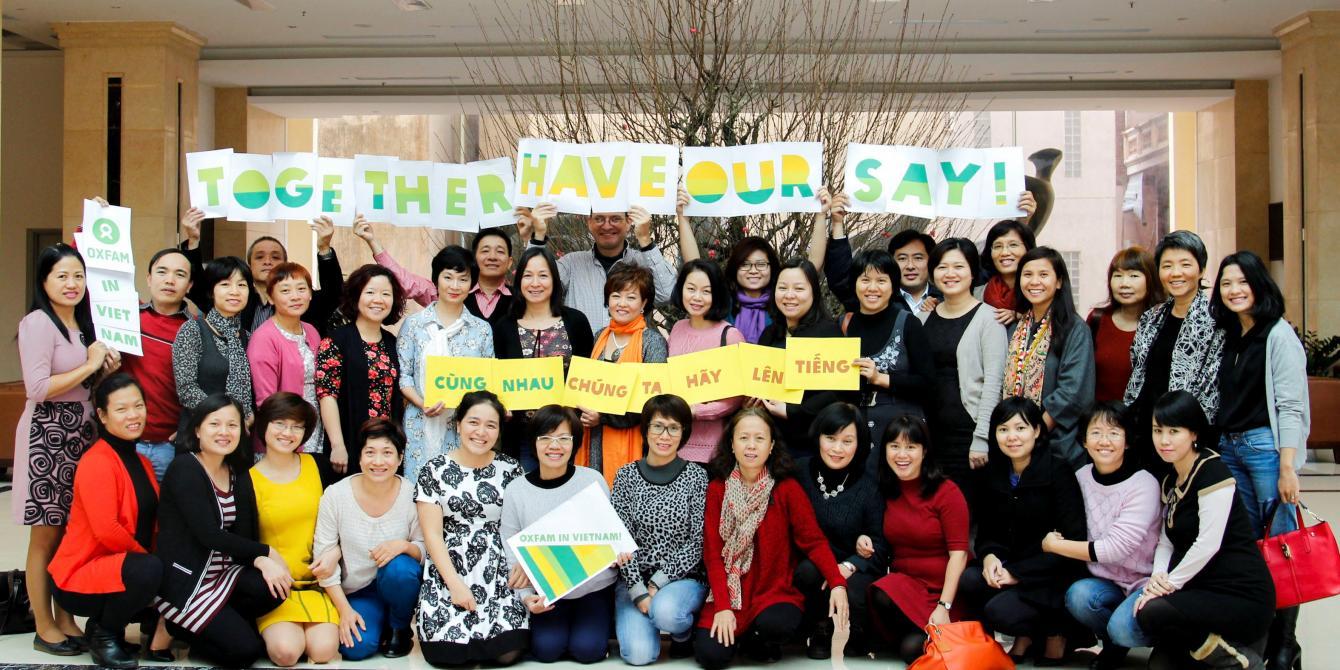 Oxfam Vietnam staff photo. Credit: Oxfam Vietnam