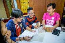 Vietnamese youth at an LGBTI workshop in Hanoi. Credit: Oxfam Vietnam