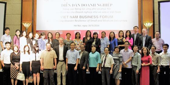 The 2016 National Business Forum in Hanoi. Credit: Oxfam Vietnam