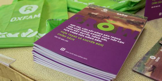 GROW in Vietnam report launch, 2015. Credit: Oxfam Vietnam
