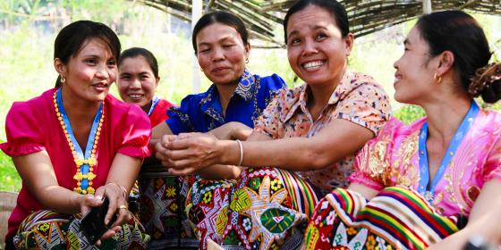 Rural women attending a political leadership workshop. Credit: Oxfam Vietnam
