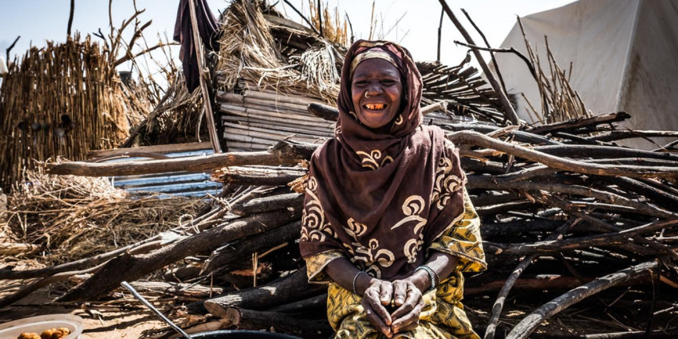 At Camp Diffa, Gamsouram Mamadou (60), like many other women, received money to buy food and start a small business through the Cash Grant programme. Credit: Toma Saater / Oxfam