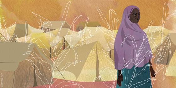 Illustration de Halima au Niger. Crédit : Sophie Le Hire