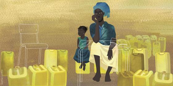 Illustration de Mariam au Burkina Faso. Crédit : Sophie Le Hire