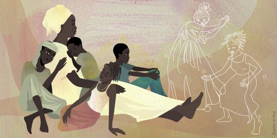 Illustration of Victorine in Burkina Faso. Credit : Sophie Le Hire